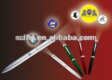 2014 mulity-funcation projector pen supplier dubai, led logo projector pen, led glowing pen with projector