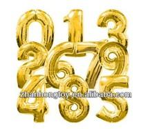 china manufacturer wholesale 2014 new number shape foil mylar balloons