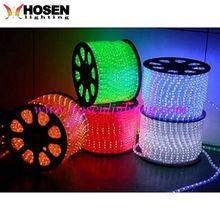 LED flat Three line rainbow light / 100m decoration led rope light HS-RLF2