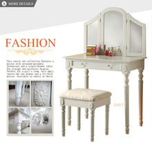 home drawer table vanity dresser with stool&chair