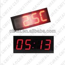 4 Digit Waterproof Jumbo Led Digital Wall Clock Time & Temperature Display