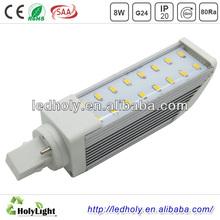 China Experienced Manufaturer 220V 120 Degree 2 Pin 4 Pin Led PL Light Bulb G24 G23 Base