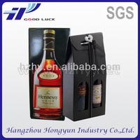 Cardboard paper packaging box for wine bottle carrier