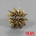 oro cristallo Giove anello di diamanti