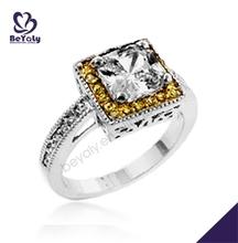 piazza design coppia anniversario 18 carati oro anelli di diamanti