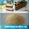 Halal edible food grade beef bone gelatin for cake,pastry,baking
