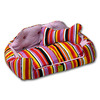 Stripe colorful pet bed