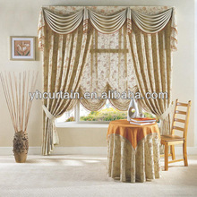 2014 hot sale polyester fabric fancy window curtain