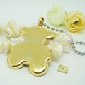 Atacado jóia 316l açoinoxidável ouro- chapeado little bear pingente