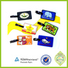 custom pvc silicone round luggage bag tag
