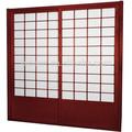 اليابانية على غرار المناطق الداخلية الباب الزجاجي مع اللون التسلق