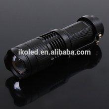 CREE Q5 LED 5W 300 Lumens 3-Mode Adjustable Zoomable Mini LED Flashlight Torch