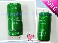 cheap shipping! 120farad capacitor 6pcs/pack solar road stud capacitor edlc farad capacitor 2.7v120f china supplier hot sale