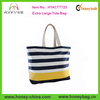 Fashion Extra Large Beach Bag Women Navy Horizontal Stripes Extra Large Tote Bag