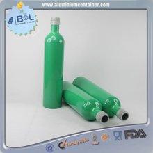 400ml cylinder aluminum bottle with aluminum lid,voss aluminum bottle