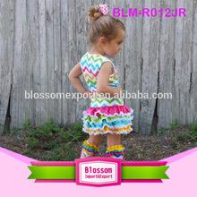 Hot sales! girls chevron cotton summers baby dress