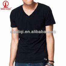 2014 latest fashion v-neck 100% cotton polo t-shirt