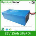 36v 15ah lifepo4 battery for e-bike