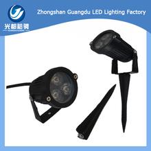 3w Classical Black Epistar Bridgelux Chip With Spike Outdoor Lights China Garden Light