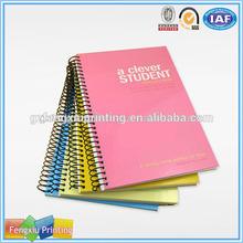 großhandel billig gedruckt benutzerdefinierte seiten papier spirale a5 notebook