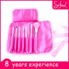 Sofeel 7 piece professional pink beauty tools cosmetic brush set