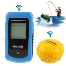 RF Wireless Fish Finder Color LCD Screen Display with Sonar Sensor,Wireless Operating Range: 40m (1100)
