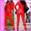 Großhandel engen roten damen leder-catsuit