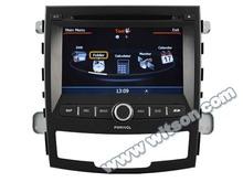 Witson de navegación del coche nuevo ssangyong korando( 2011->) a8 con chipset 1080p v-20disc wifi 3g dvr de internet de apoyo