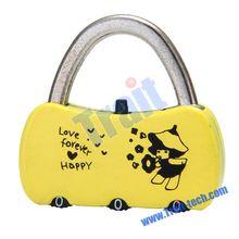 CR-25B YelloCartoon Mini 3 Digit Resettable Combination Lock Password Lock Padlock