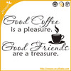 Double Wall Paper Coffee Cups Good Coffee Is A Pleasure Art Vinyl Wall Decals 3d Removable Wall Stickers Home Decor Manufactuer