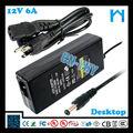 12v transformador volts 6a 72w com ul/cul gs saa pse