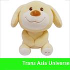"Plush Big Paw Dog Custom Stuffed Animal with Shirt - 8.5"""