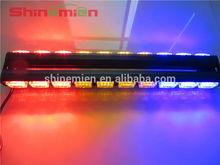 Double side 2pcs 30 LED Car Emergency Traffic Advisor Flash Strobe Warning Light Bar Red Amber Blue