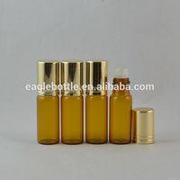 empty amber perfume roll on bottle, amber empty roll on bottle,10ml amber roll on bottle