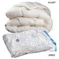 ahorro de espacio transparente de vacío comprimido bolsa de almacenamiento de ropa y ropa de cama para la temporada de almacenamiento