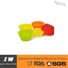 ZW FDA LFGB round silicone muffin case