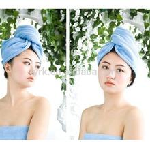 80% polyester 20 polyamide hair pink towel wrap