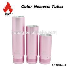 3-piece anodized aluminum tubes for nemesis colorful nemesis tubes