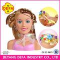 boneca de plástico cabeça estilo de cabelo 2014 new born baby doll cabeças estilo de cabelo conjunto