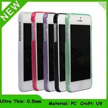 Blank pc transparent phone case adjust import PC material