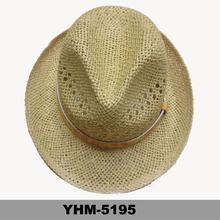 high quality straw fedora hat hand woven summer hat unisex