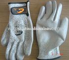 Cut PAD proof work glove /antistatic, anti-cut,PU coated.CE. cut level 3 , safe defense