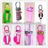 2014 promotion fancy 3d novelty silicone rubber lip gloss/jar bottle/tube holder