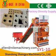 (wt1-10) SY1-10 hydraulic pressure clay brick making machine , lego interlocking brick machine price,cement block machine