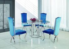 Modern metal base dining table