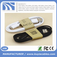 Factory Sell Custom USB to Micro cable for Samsung/HTC/Mobile Phone 1M white black