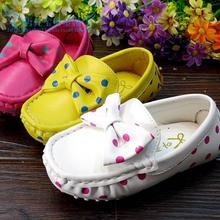 TSZ5016 Wholesale princess baby casual shoes new spring 2014 girls Korean bowknot wave point fancy doug shoes online