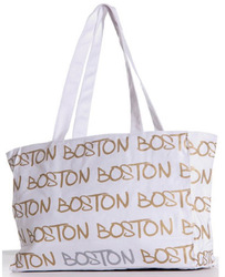 Stylish summer canvas tote bag with corded rope handles