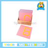 montessori Language material ,educational toys for kids-Sandpaper Letters, Capital Case Print, with Box