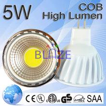 MR16 LED bulbs 12v 5w 90 degree high lumen flux